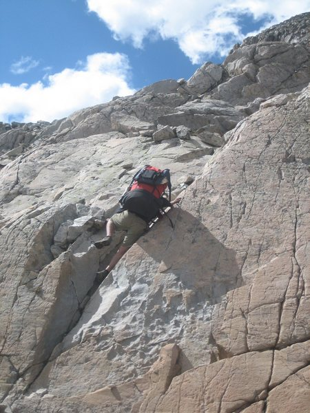 some backpacked scrambling