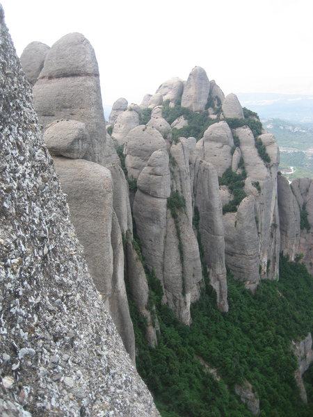 Rock Climbing Photo: Frares area, Montserrat.