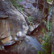 Rock Climbing Photo: A hard problem up the drainage