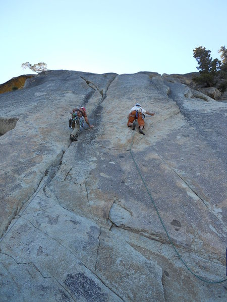 Rock Climbing Photo: Anthony on Caifura (R), and Arin on Insidious Crac...