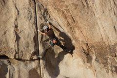 Rock Climbing Photo: Joshua Tree/Old Woman/Double Cross. Transitioning ...