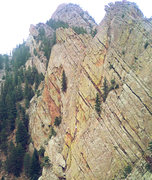 Rock Climbing Photo: Unknown climber on 4th pitch of Rewritten, Aug 24t...