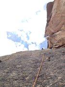 Rock Climbing Photo: Slabby, friction pitch 4