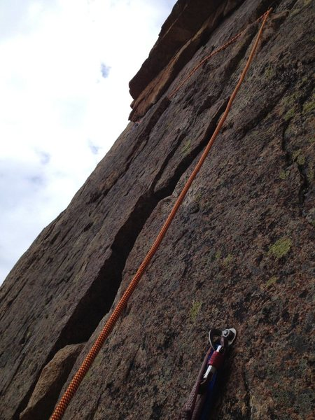 Anchors at top of pitch 3. The only real anchors on the route.