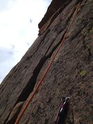 Rock Climbing Photo: Anchors at top of pitch 3. The only real anchors o...