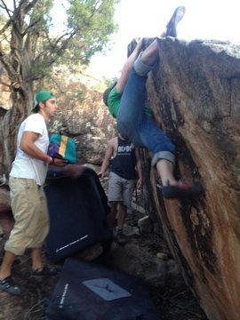 Rock Climbing Photo: Talk about teamwork!