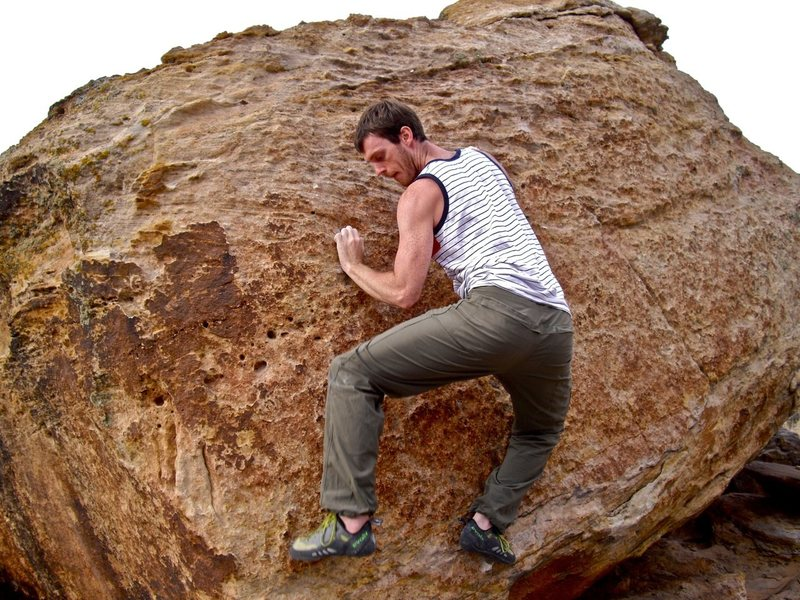 Rock Climbing Photo: The feet are thin, which is what keeps it fun.