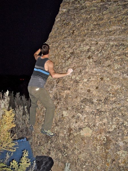 Rock Climbing Photo: You can see the starting crimp--you can kinda see ...