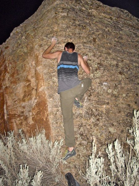 Rock Climbing Photo: Stay off the arete.  It's very tempting.