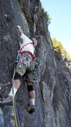Rock Climbing Photo: Starting up the cracks on p1.