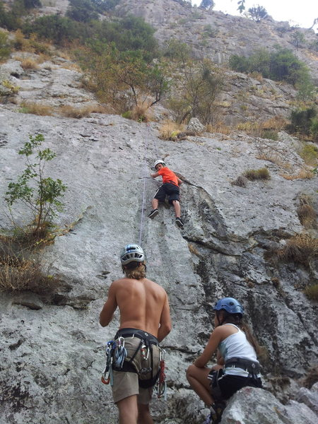 Rock Climbing Photo: Toproping with the kids!