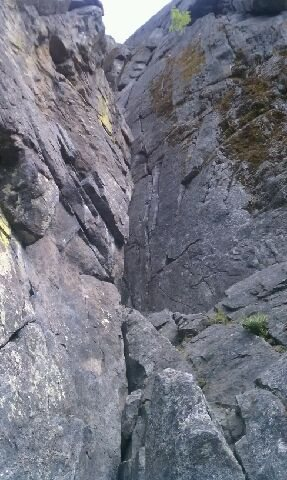 1st pitch, I had trouble finding protection near the top, just couldnt reach the piton. I am a beginner though:)