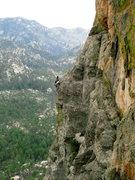 Rock Climbing Photo: Clifford Rylands and John Hinrichsen finishing pit...