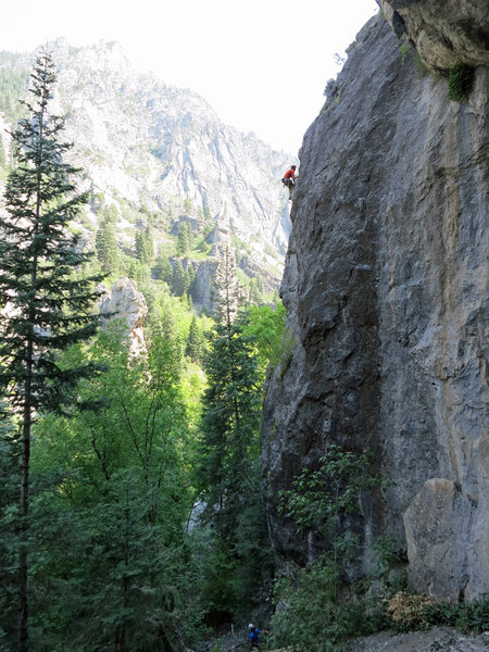 Rock Climbing Photo: Summer climbing in AF.  Black Magic area.