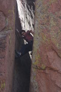 Rock Climbing Photo: Matthew Wade following the fun, handcrack, chimney...