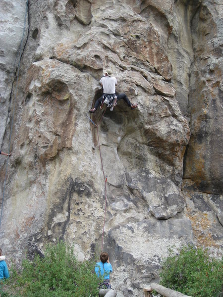 Fun climbing through the crux