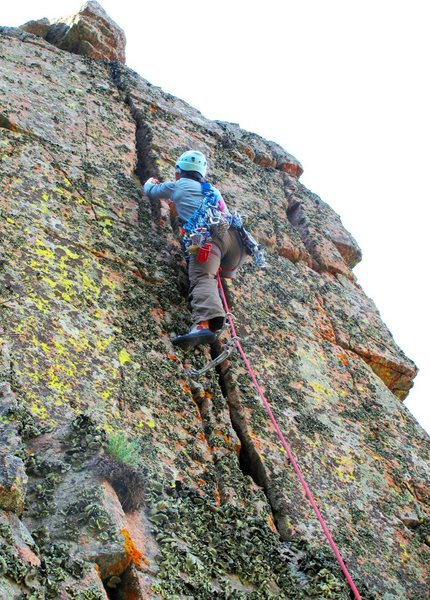 Rock Climbing Photo: Juan de la Cosa, with Christina F. leading the fir...