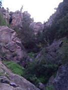 Rock Climbing Photo: Cave in Middle Elden Canyon