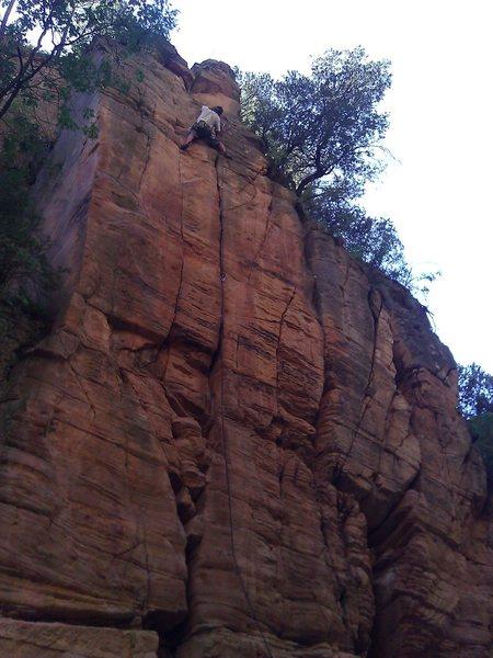 Rock Climbing Photo: Joel on the sharp in PHW