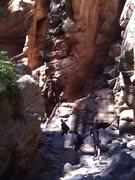 Rock Climbing Photo: Through the cove