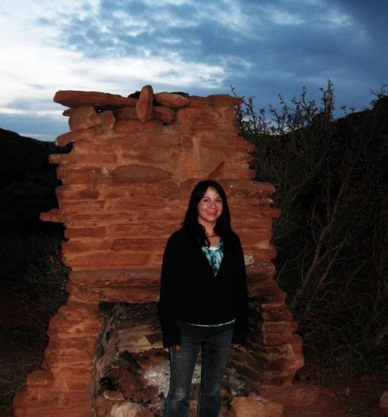 In 2011- Enjoying our night hike while camping at the Historic Robber's Roost, Utah. We had the area all to ourselves. Such an awesome place to explore!