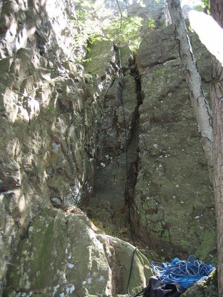 Rock Climbing Photo: The starting scramble