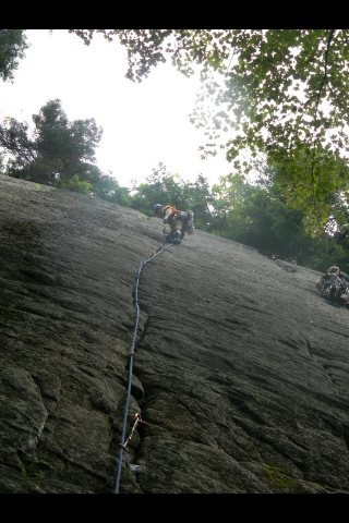 Lead climb on Little Kisses.
