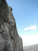 Rock Climbing Photo: Michael Stearns wagering on The Price of Fear 5.10...