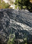 Rock Climbing Photo: Kristy follows the beautiful knobby face of Midnig...