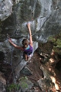 Rock Climbing Photo: chloe heading in to the first real moves...