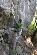 """Rock Climbing Photo: jared with his fingers up the """"yer anus""""..."""