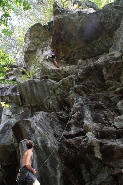 Rock Climbing Photo: chloe on space