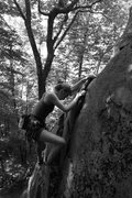 Rock Climbing Photo: chloe on the upper part of the highway...