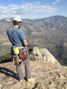 Rock Climbing Photo: Summit of the Warlock with Voodoo Dome in the back...