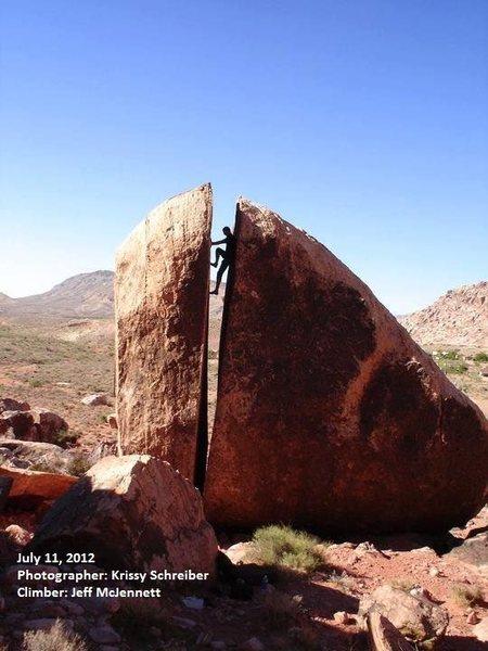 Plumbers Crack at Kraft Boulders