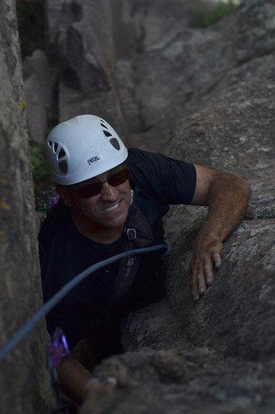 Rock Climbing Photo: Sayfe on the overhung OW finish.