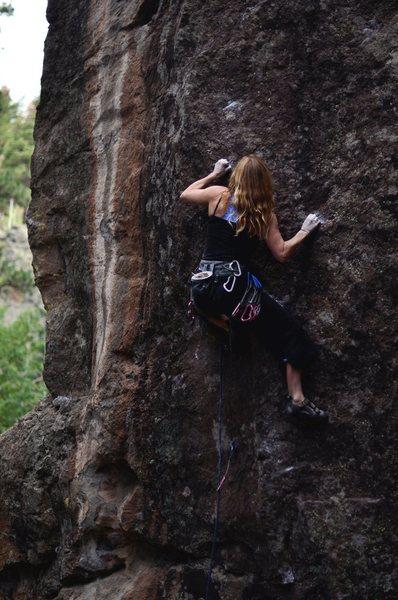 Rock Climbing Photo: Deidre Burton crimping