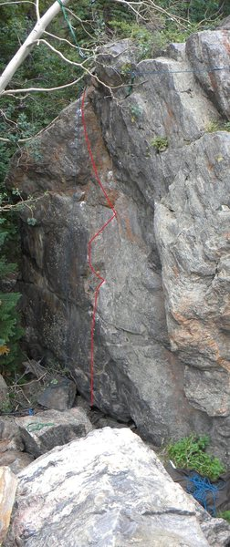 Rock Climbing Photo: Every Which Way But Loose.
