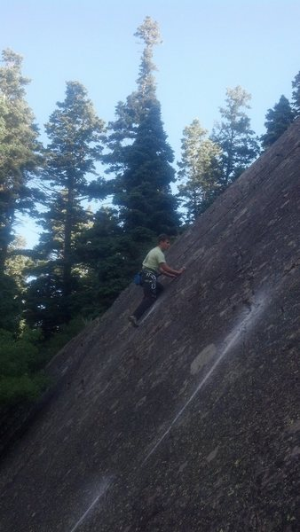 Cory hikes the Seamline during the FA.