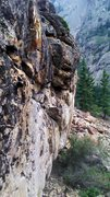 Rock Climbing Photo: Nice looking boulder on the hike in to the Slab of...