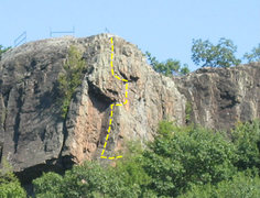 Rock Climbing Photo: The end.  Expect great pro at the top and you will...