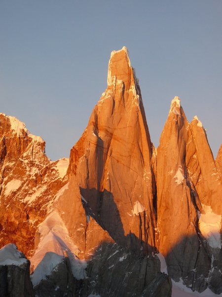 Rock Climbing Photo: Cerro Torre at sunrise