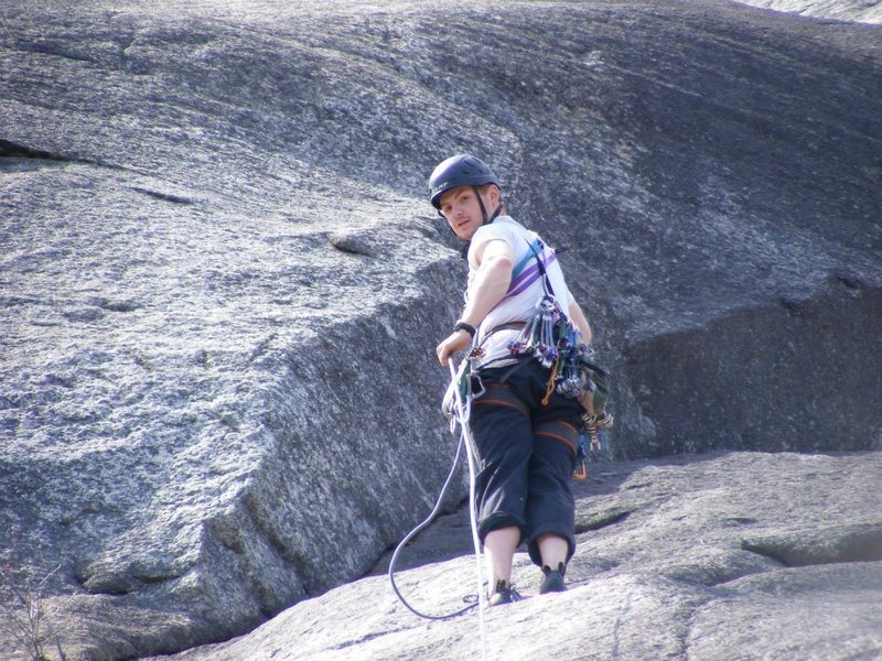 Rock Climbing Photo: Me on Beginner's route