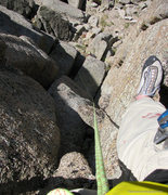 Rock Climbing Photo: Looking back on the first pitch of the standard ro...