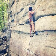 Rock Climbing Photo: Leading the Sting