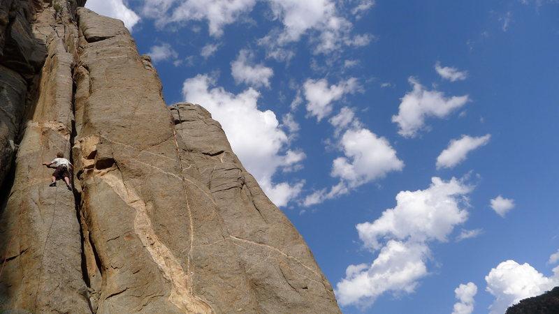 Rock Climbing Photo: Hugging the rib.