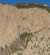 Rock Climbing Photo: Smorgasbord (5.8, by the way plotted here), The Sh...