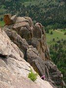 Rock Climbing Photo: I love climbing at Lumpy Ridge; a fun way to awake...