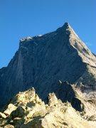 Rock Climbing Photo: Piz Badile. The Nordkante in the sun, Cassin in th...