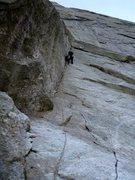 Rock Climbing Photo: Rebuffat dihedral at the start.